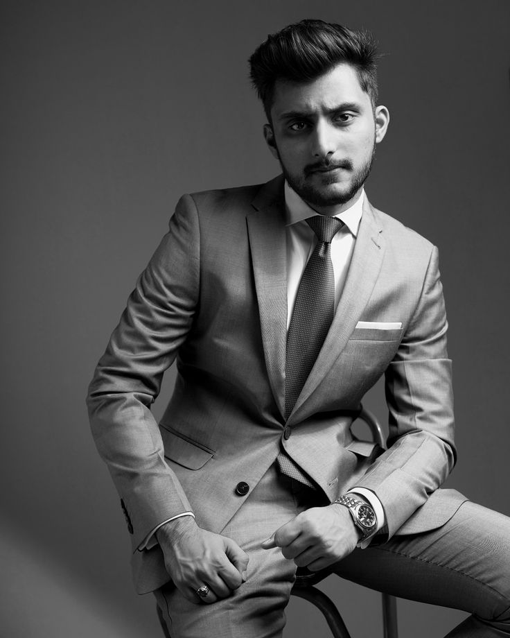 Black and white Mens suit photo by Irfan Intekhab Suit : Angelico Fashion UAE Watch : Orient watches