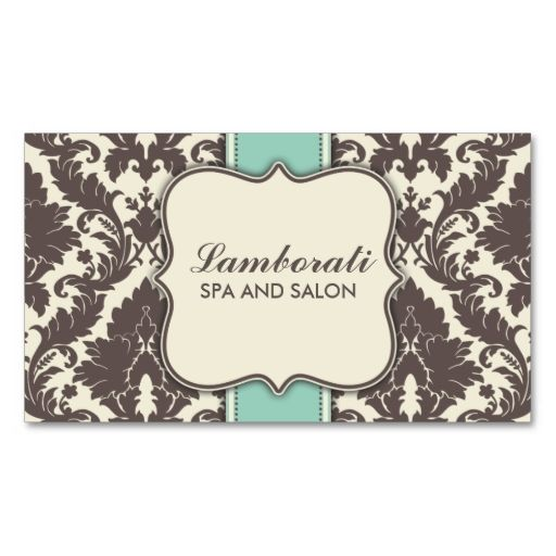 Damask Floral Elegant Modern Brown Beige and Green Business Cards. This is a fully customizable business card and available on several paper types for your needs. You can upload your own image or use the image as is. Just click this template to get started!