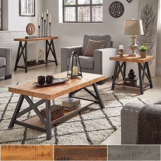 Bryson Rustic X-Base Accent Tables by iNSPIRE Q Classic | Overstock.com Shopping - The Best Deals on Coffee, Sofa & End Tables
