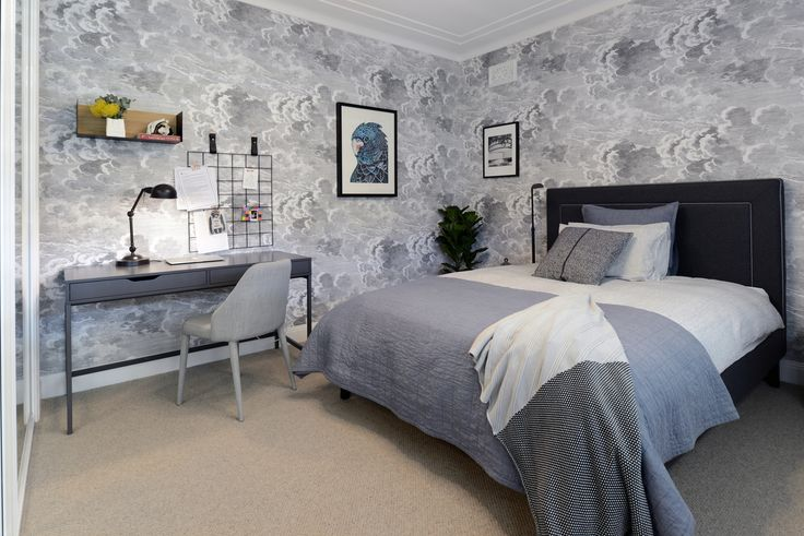 Contemporary teen bedroom designed by Alix Helps Interiors