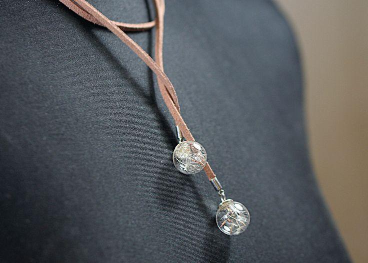Kropfbänder & Halsbänder - Pusteblumen Halsband Choker Wickel Schleifen Kette - ein Designerstück von VillaSorgenfrei bei DaWanda