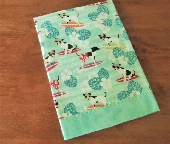Surfing Dogs Baby Blanket, Flannel Receiving, Tropical