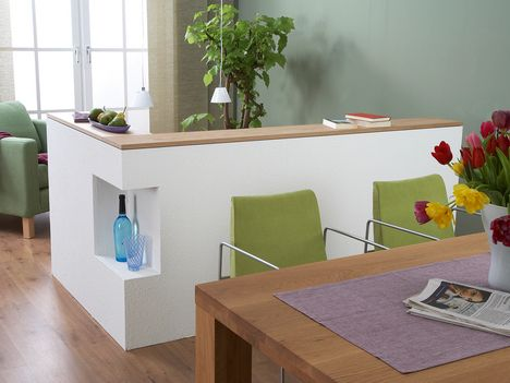 Selber gemachter Raumteiler aus Gipsplatten