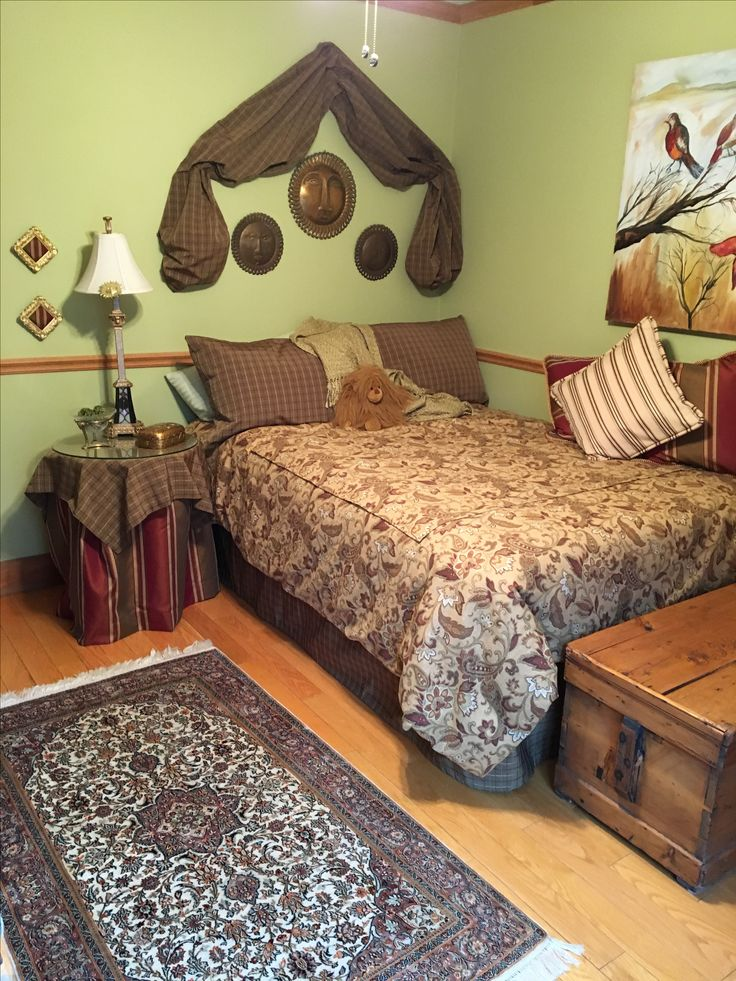 Nailed decor of guest room with Canadian and Indonesian design features.