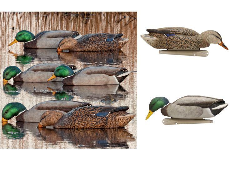 Avian-X Floating Mallard Duck Decoys - Back Water, 6 Pack