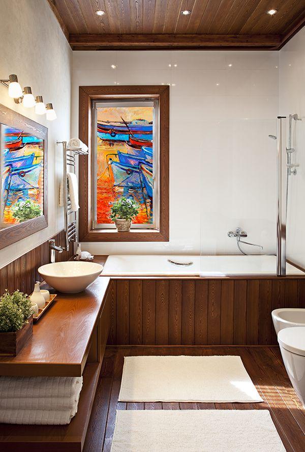 Idealna dekoracja do Twojej łazienki. Rolety okienne z grafiką