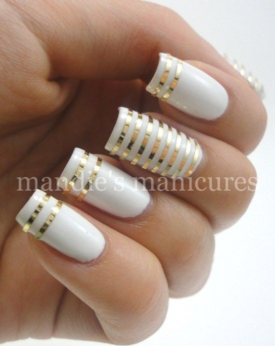 Beautiful & Elegant 30 Striping Tape Nail Art Designs 2017 . It may amaze you to apperceive that decorating your nails is not article that is recent, it has been activity on for bags of years. The trends now are no agnosticism added avant-garde not to acknowledgment consistently changing. Now we accept chestnut and polymers and what accept you. Now