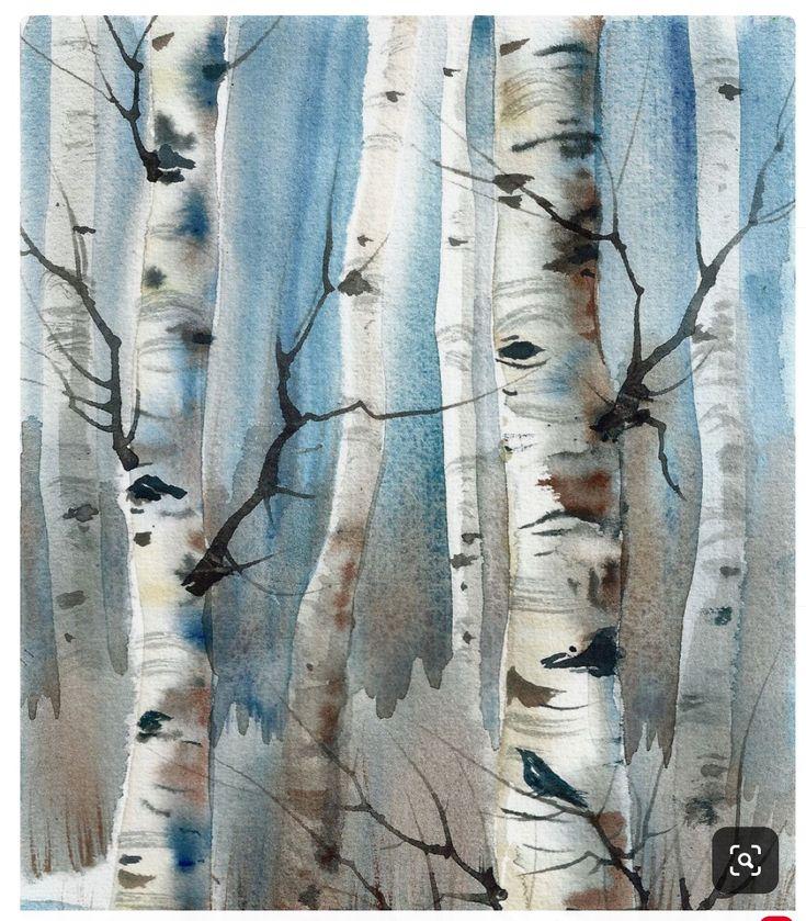 Pin by Annis Pawlowski on trees in 2020 Birch tree art