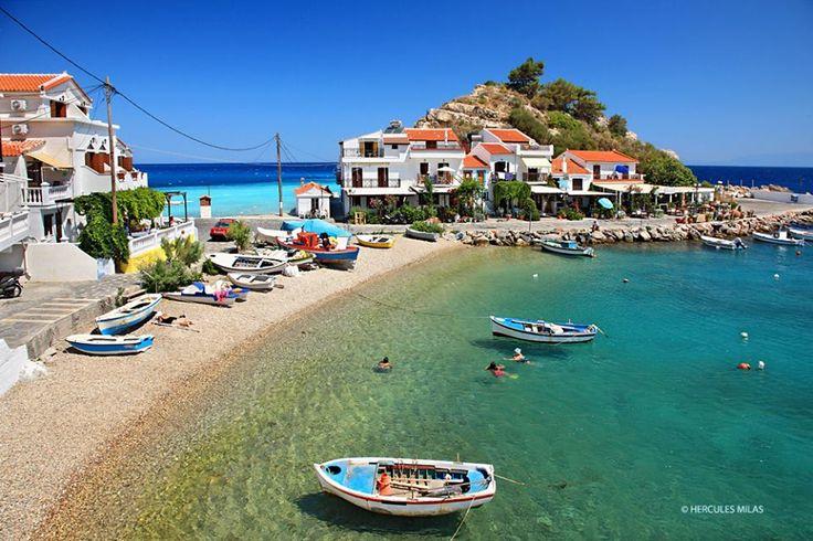 Kokkari, Samos island, Greece.