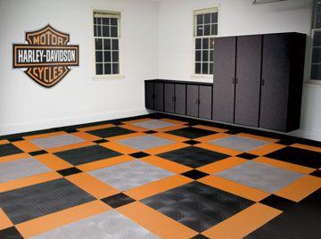 harley davidson flooring from texas garages