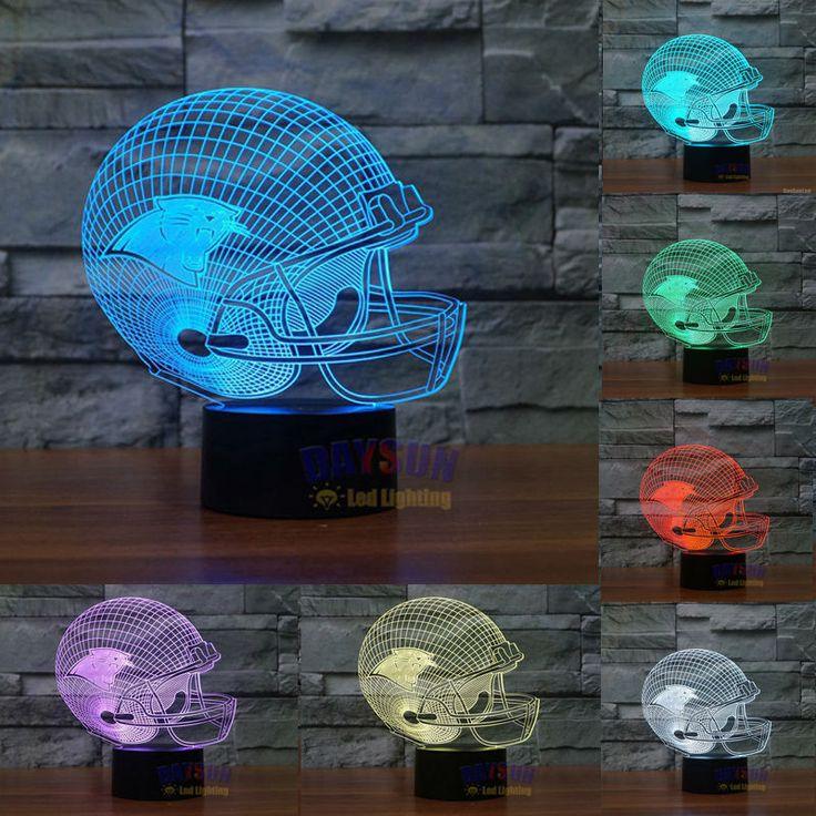 NFL Carolina Panthers 3D Light 7 Colors Change LED 4-6 week delivery