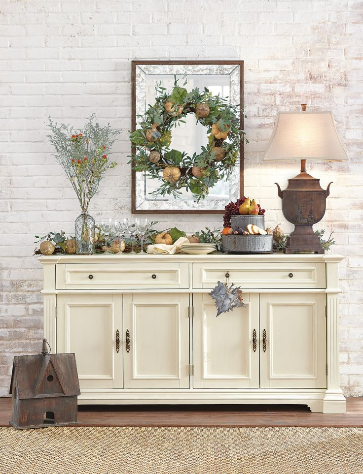 An inviting setting for fall gatherings. HomeDecorators.com