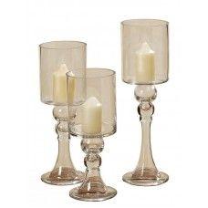 Pahare pentru lumânări set 3 buc H30-40