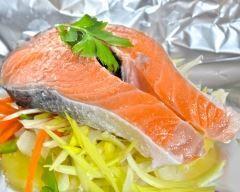 Papillotes de saumon aux poireaux : http://www.cuisineaz.com/recettes/papillotes-de-saumon-aux-poireaux-2071.aspx