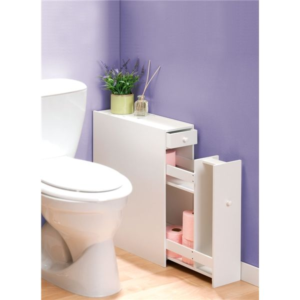 Les 25 meilleures id es de la cat gorie meuble wc sur for Rangement papier toilette blanc