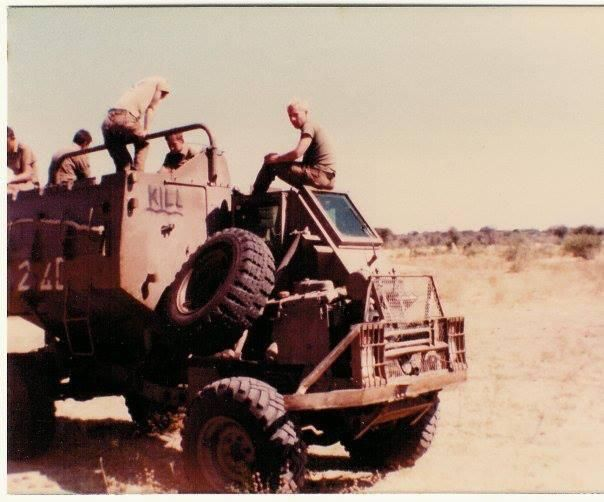 South African armored vehicle in Angola during the Border War: 1980-82