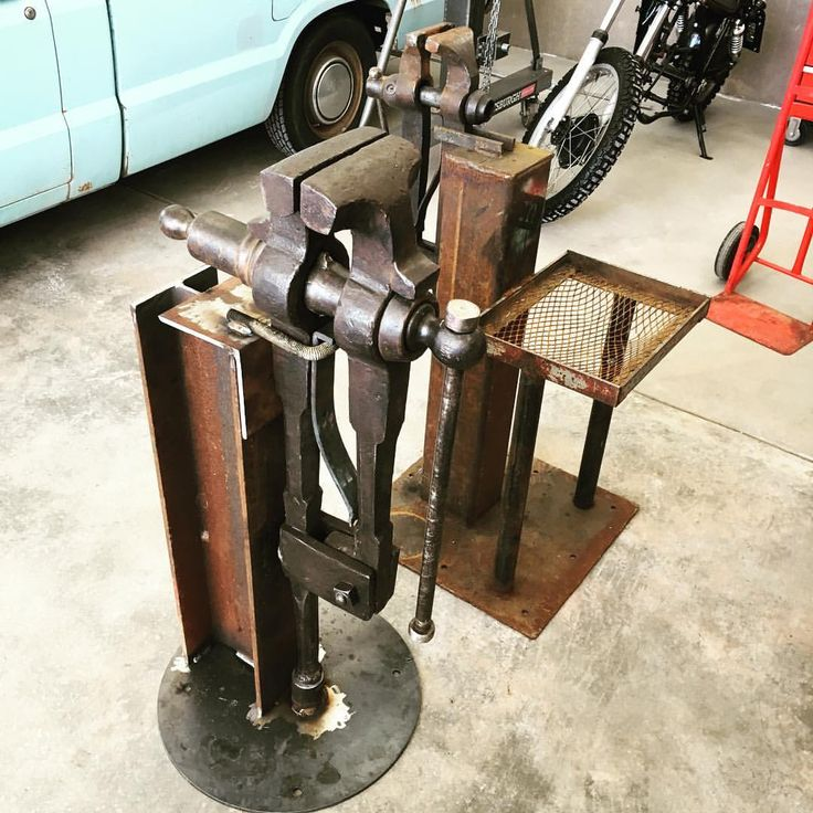 metalogicaldesigns:  Finished the big leg vise stand. Here's a pic with the old…