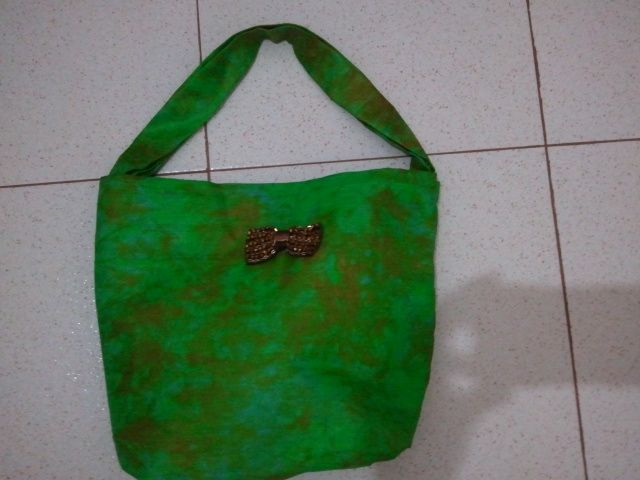 My DIY  hand sewn African fabric handbag. Please start by liking it.  Thanks