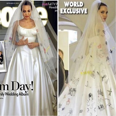 Vestito bianco angelina jolie and johnny
