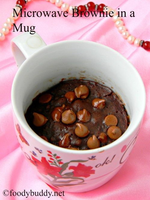 how to make eggless brownie in microwave