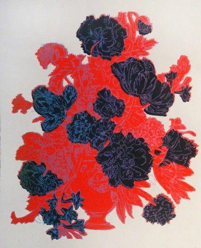 Black and Red Bouquet (Kırmızı Siyah buket) - June August. Edinburg Printmakers atölyesi sanatçıların çeşitli baskı teknikleriyle iş ürettikleri, sergiledikleri ve sattıkları uluslararası bir merkez. Buranın dükkanından çok özel sanat eserleri bulabilirsiniz. kültüredinburg.com