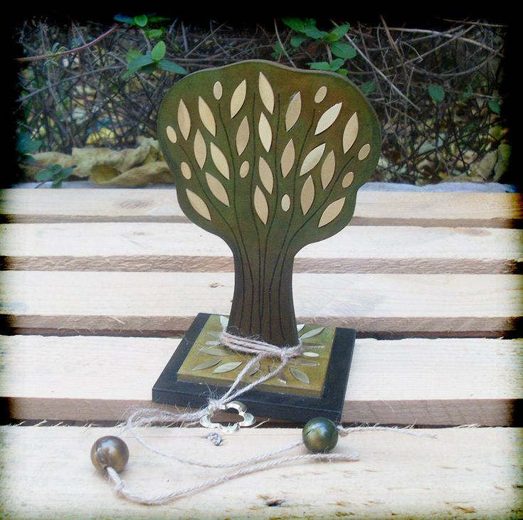 OLIVE TREE/Handmade Olive Tree/Wooden Carved Olive Tree/Engraved Brass Plate/Engraved Brass Olive Tree/Customized