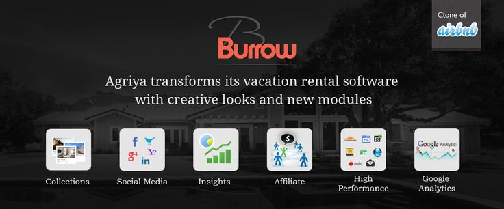 Agriya makes a huge transformation in its vacation rental booking script – Burrow. We have introduced revolutionary features, additional revenue options and extra ordinary modules in it.