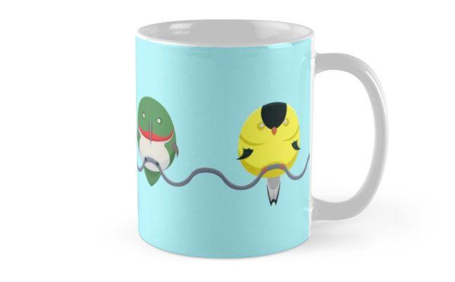 Tweeters Mugs by AnMGoug on Redbubble. #birds #mug #hummingbird