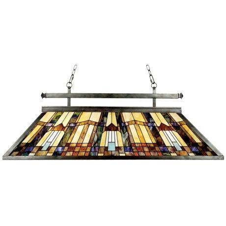 Quoizel Tiffany-Style Inglenook Island Chandelier - #F8285 | LampsPlus.com $920