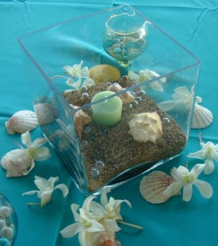 Upscale Centerpieces For Beach Theme Wedding Photo Gallery Themed Centerpiece