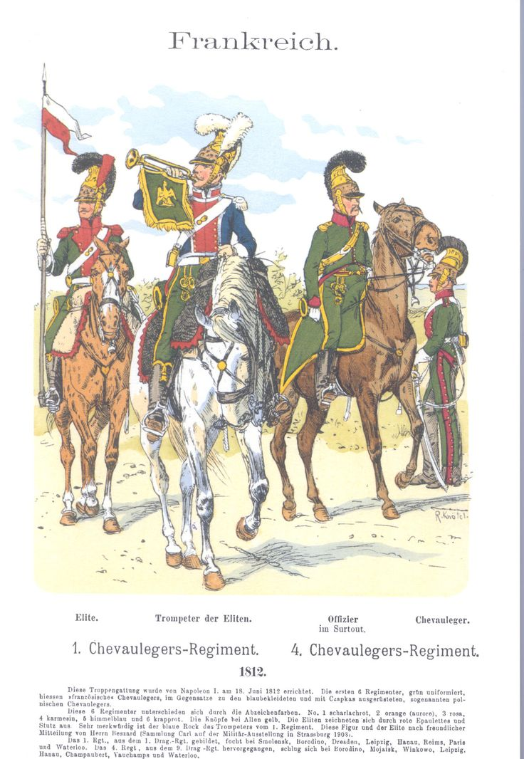Vol 13 - Pl 29 - Frankreich. 1. u. 4. Chevaulegers-Regiment. 1812.
