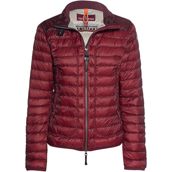 PARAJUMPERS Sunny Ribes // Lightweight down jacket (£275) ❤ liked on Polyvore featuring outerwear, jackets, parajumper jacket, down jacket, lightweight nylon jacket, standing collar jacket and lightweight down jackets