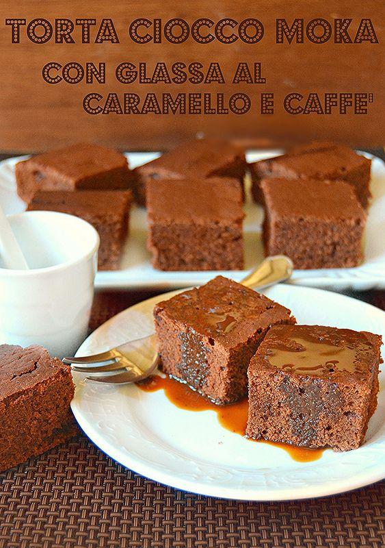 #Dolce ciocco moka con la #glassa al caramello e caffè @guarnireipiatti