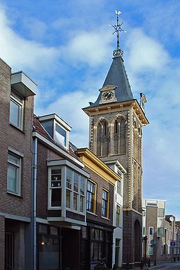 De Barbaratoren op de hoek van de Kuiperstraat en de Keizerstraat in Gouda.