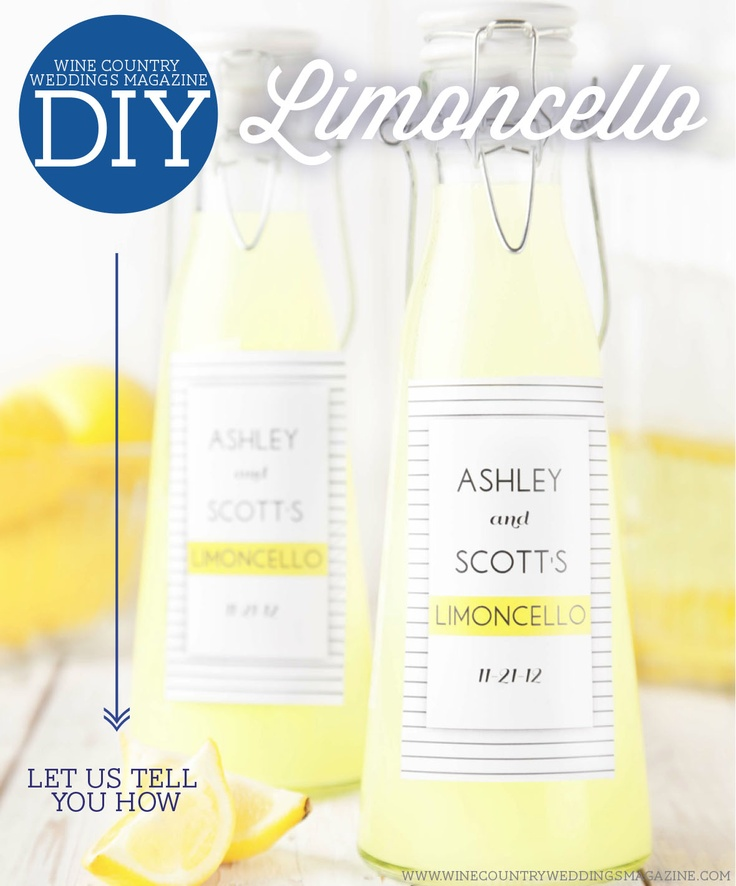 Limoncello Wedding Favors With Free Printable Labels