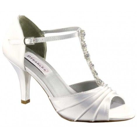 Elegant steps open toe wedding sandals with strap and sparkles £74.95
