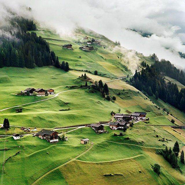 DECEMBER 3, 2012    Tyrol, Austria  Photograph by Berthold Steinhilber, Stern/laif/Redux    Homes dot a patchwork mountainside in Tyrol, Austria. The state, known for spectacular Alpine scenery, attracts nearly five million visitors a year. The largest city is Innsbruck.