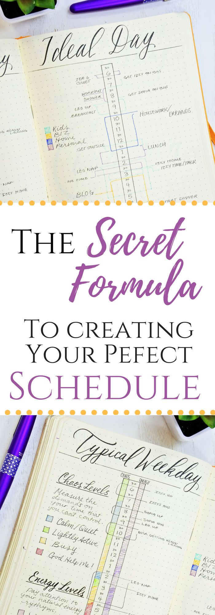Create a schedule you love without beating yourself up! #bulletjournal #productivity #bujo #planner