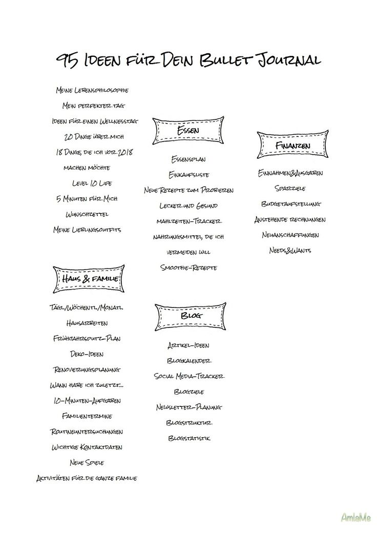 95 Ideas for Your Bullet Journal2.jpg (1240 × 1753 …