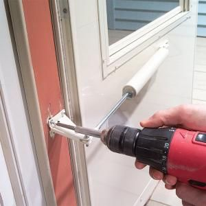 Strong winds or heavy use can crack the door jamb that holds the storm door closer in place. A jamb reinforcer can repair the cracked jamb, or stop the problem from happening in the first place.