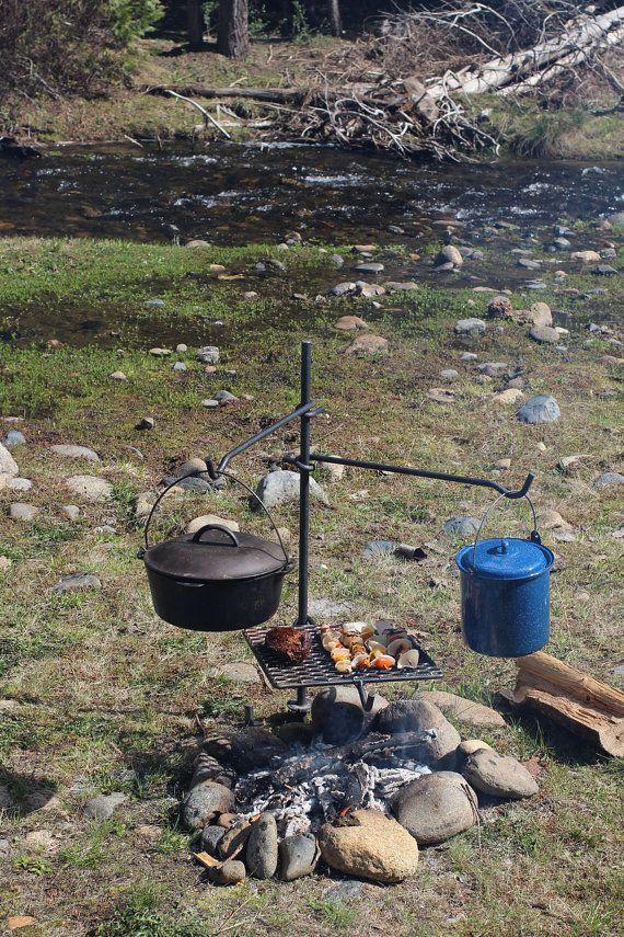 Campfire Pole Cooker 14X16 Grill by CampfireBlacksmith on Etsy