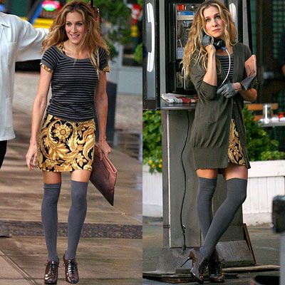 I love this look-- sex and the city had weird fashions a lot, but when they nailed it, they really nailed it