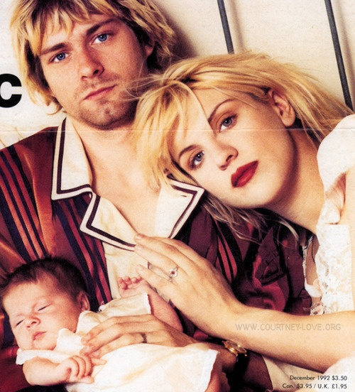 Image result for kurt cobain with family