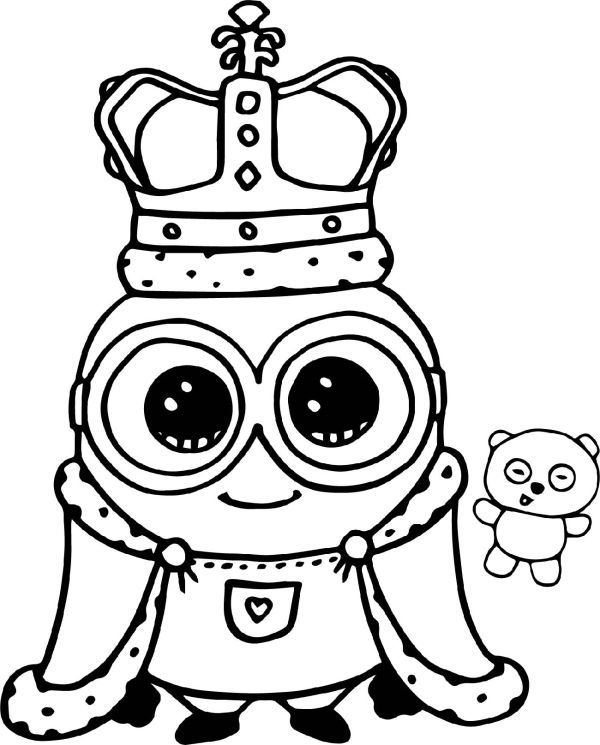 Minion Coloring Pages Bob King Minion Coloring Pages Minions Coloring Pages Halloween Coloring Pages