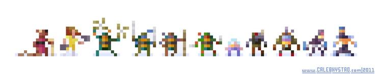 8 bit Ninja Turtles