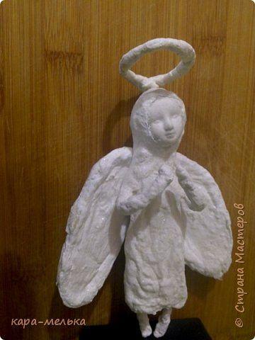 Поделка изделие Папье-маше Ангел  Вата фото 1
