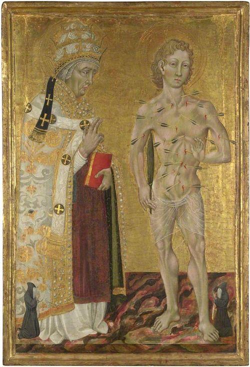 Giovanni di Paolo, Saint Fabian and Saint Sebastian, 1475: Wood
