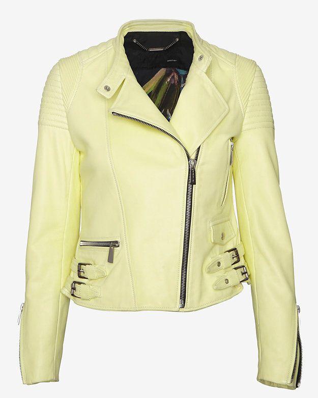 Best 25  Cream leather jacket ideas on Pinterest | Cream jacket ...