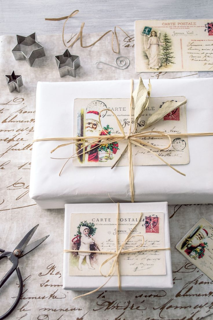 Vintage French Postcards Printable - Free from The Graphics Fairy! So lovely for Gift Wrapping presents with a nostalgic handmade look.