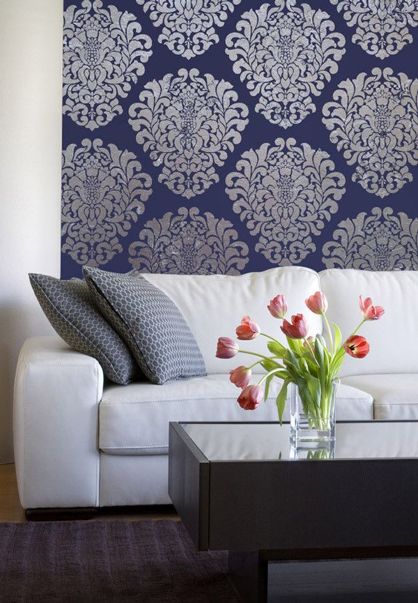 Wall Stencils Royal Design : Wall stencil grand damask royal design studio